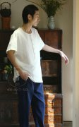 禅茶服饰--棉麻男装茶服裤
